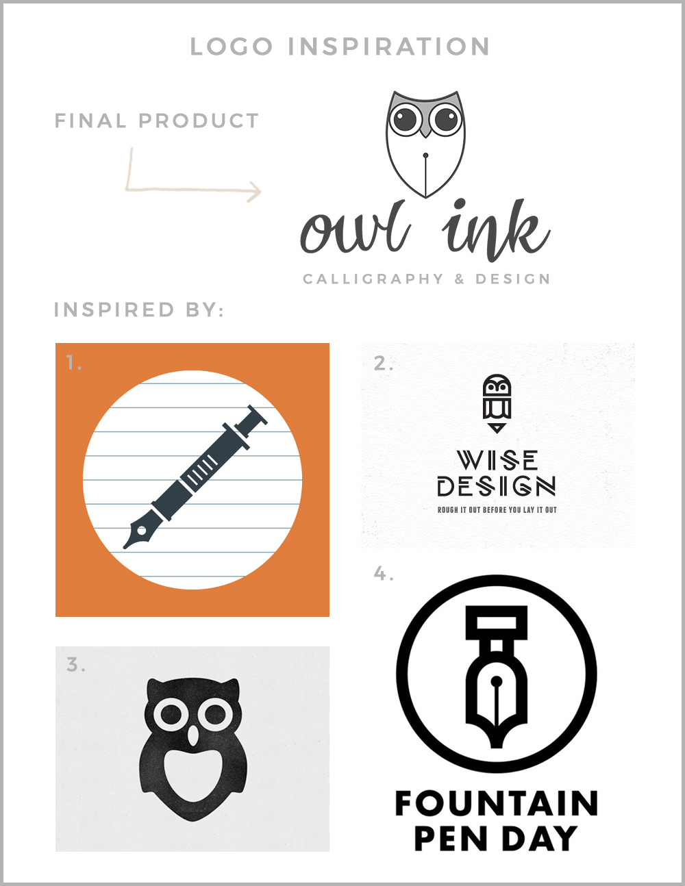 Owl Ink Logo Inspiration