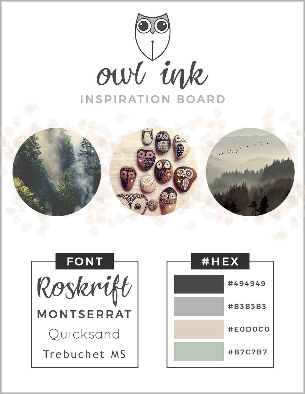 Owl Ink Inspiration Board