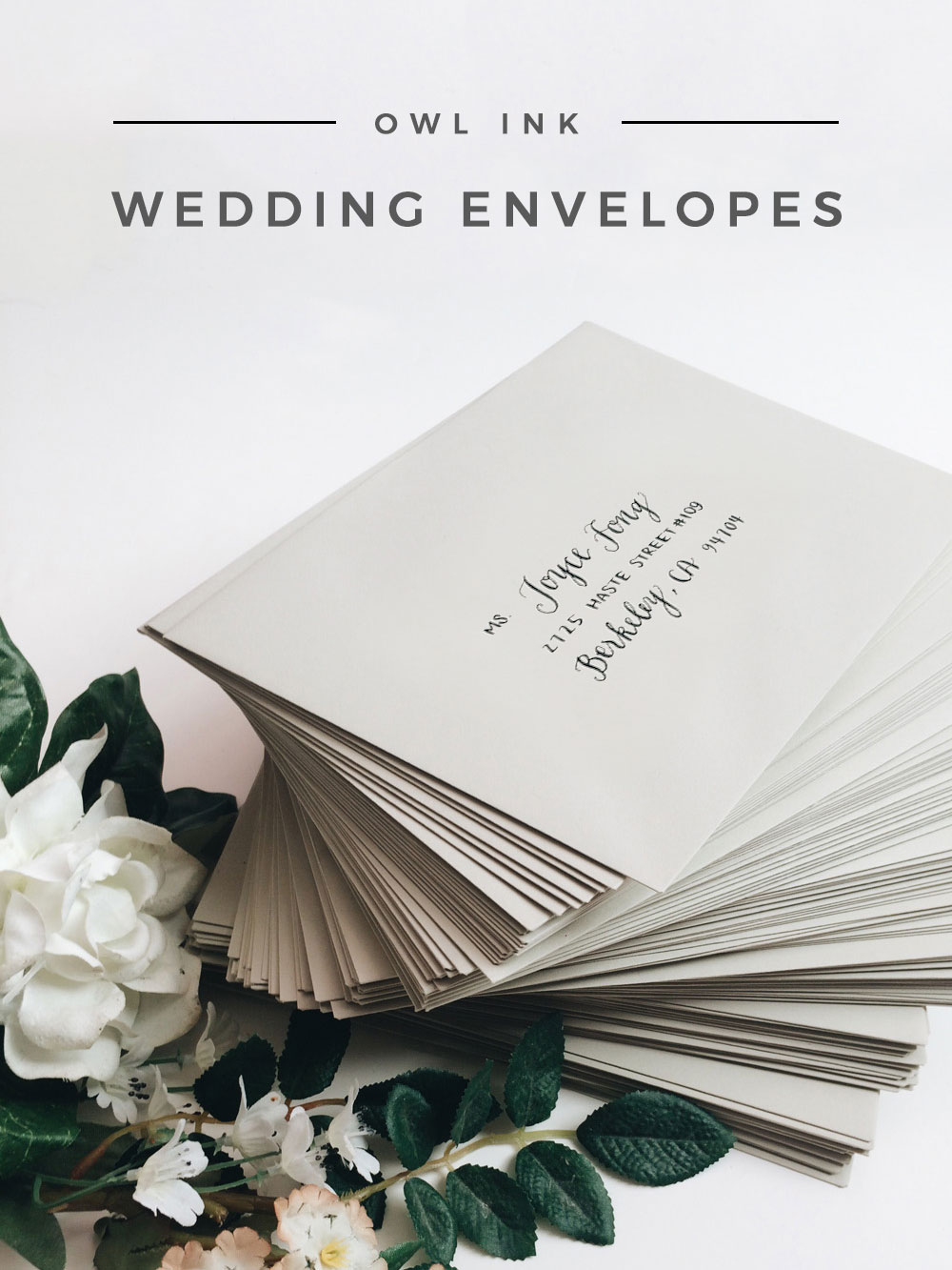 Owl Ink Wedding Envelopes