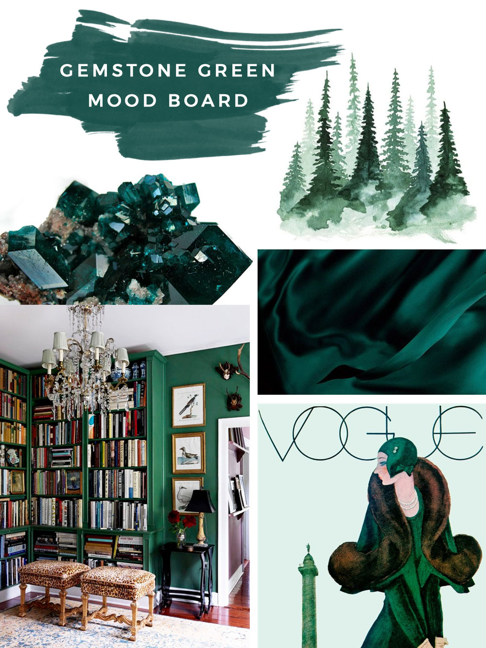 Gemstone Green Mood Board