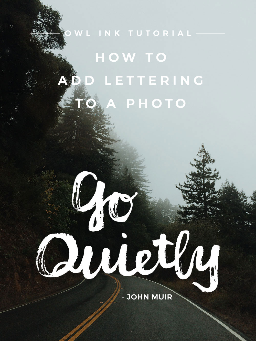 How to Add Lettering to a Photo