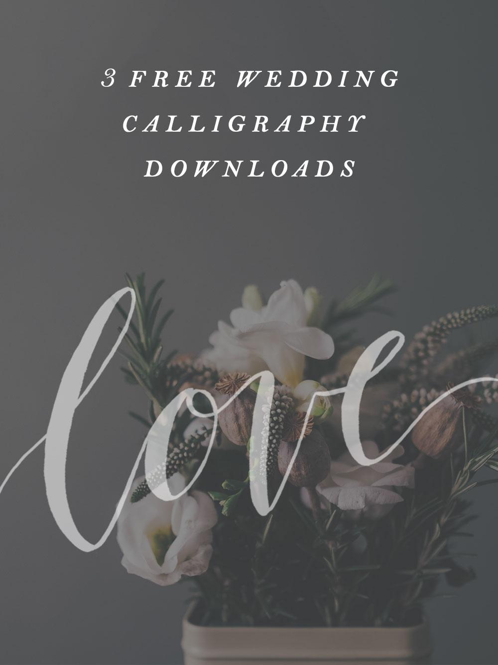 Owl Ink - 3 Free Wedding Calligraphy Downloads