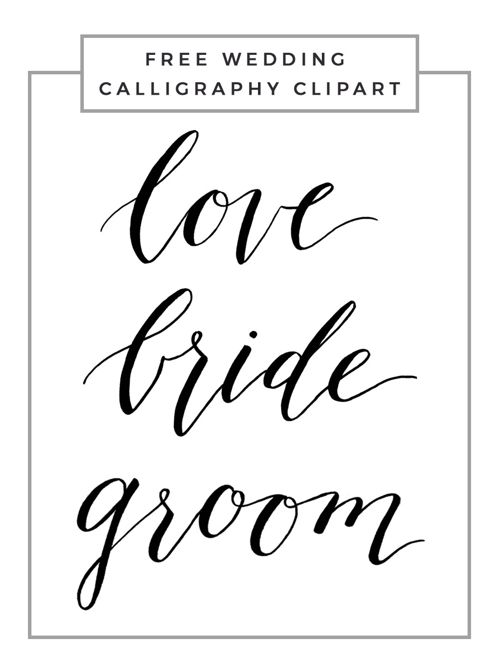 3 Free Wedding Calligraphy Downloads Owl Ink