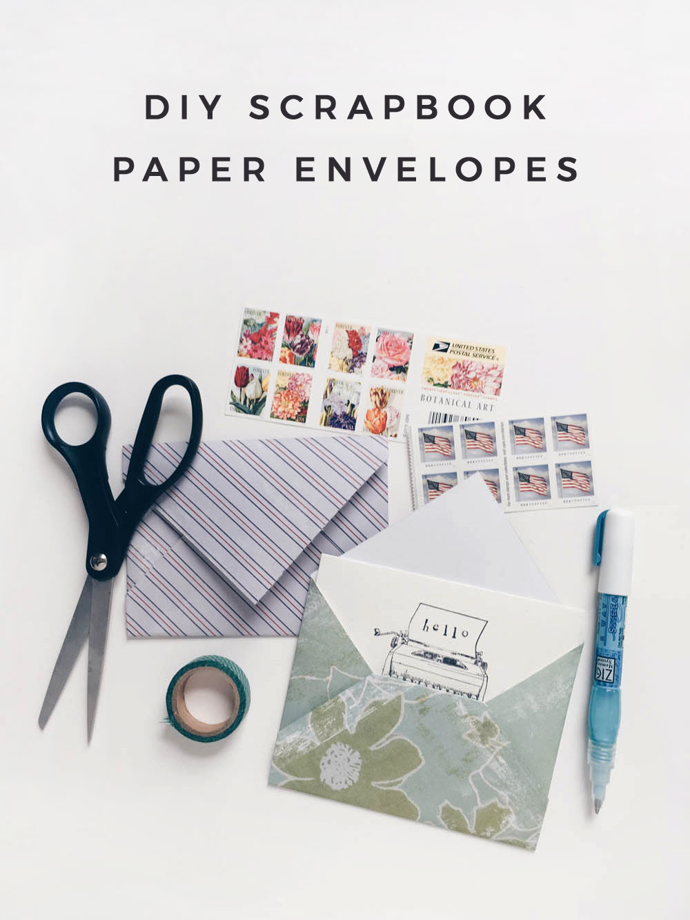 Owl Ink | DIY Scrapbook Paper Envelopes